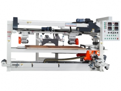 Auto. cross setting and shaping machine for door